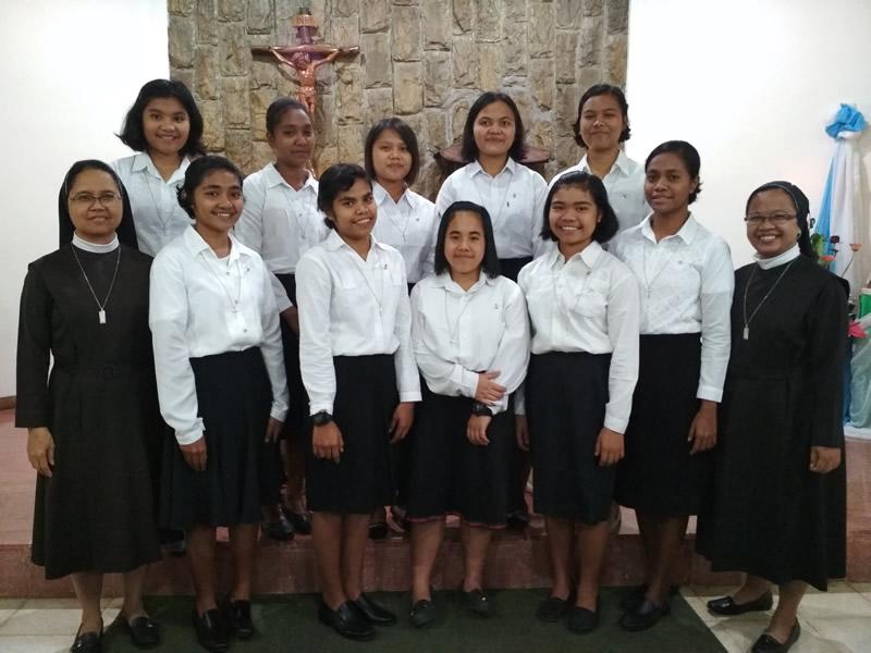 Ingresaron diez aspirantes en Indonesia